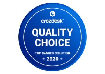 Quality Chose Crozdesk 2020 Badge